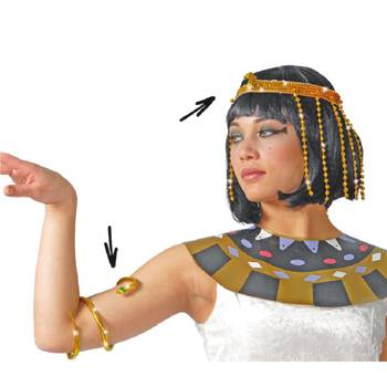 Cleopatra-Set Kopfschmuck mit Armreif