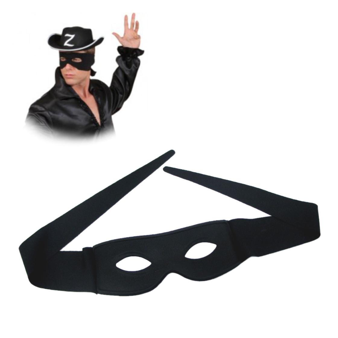 Zorro Maske schwarz Augenbinde Fasching Karneval Räuber Krieger Kämpfer