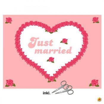 """Herzlaken """"Rosen"""" zum Ausschneiden Hochzeitslaken"""