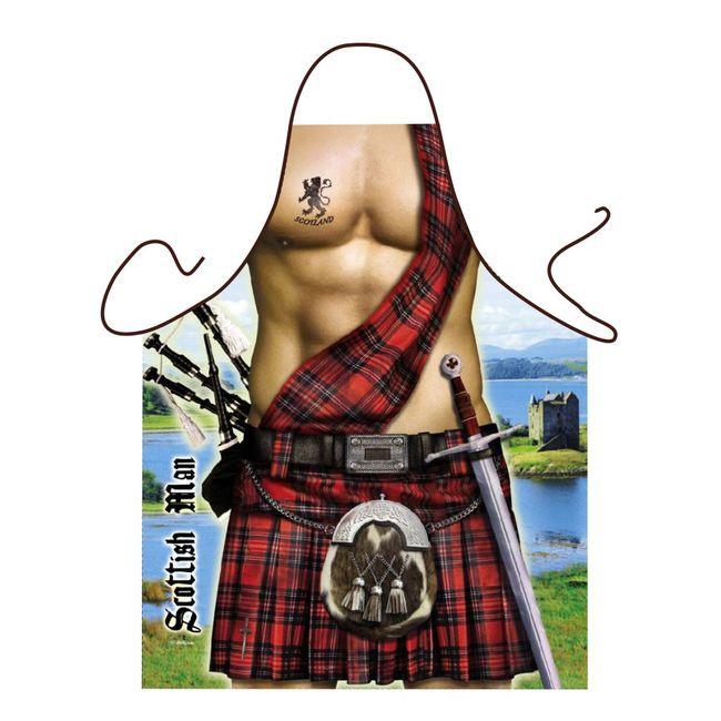 Schürze mit Schottenrock Motiv
