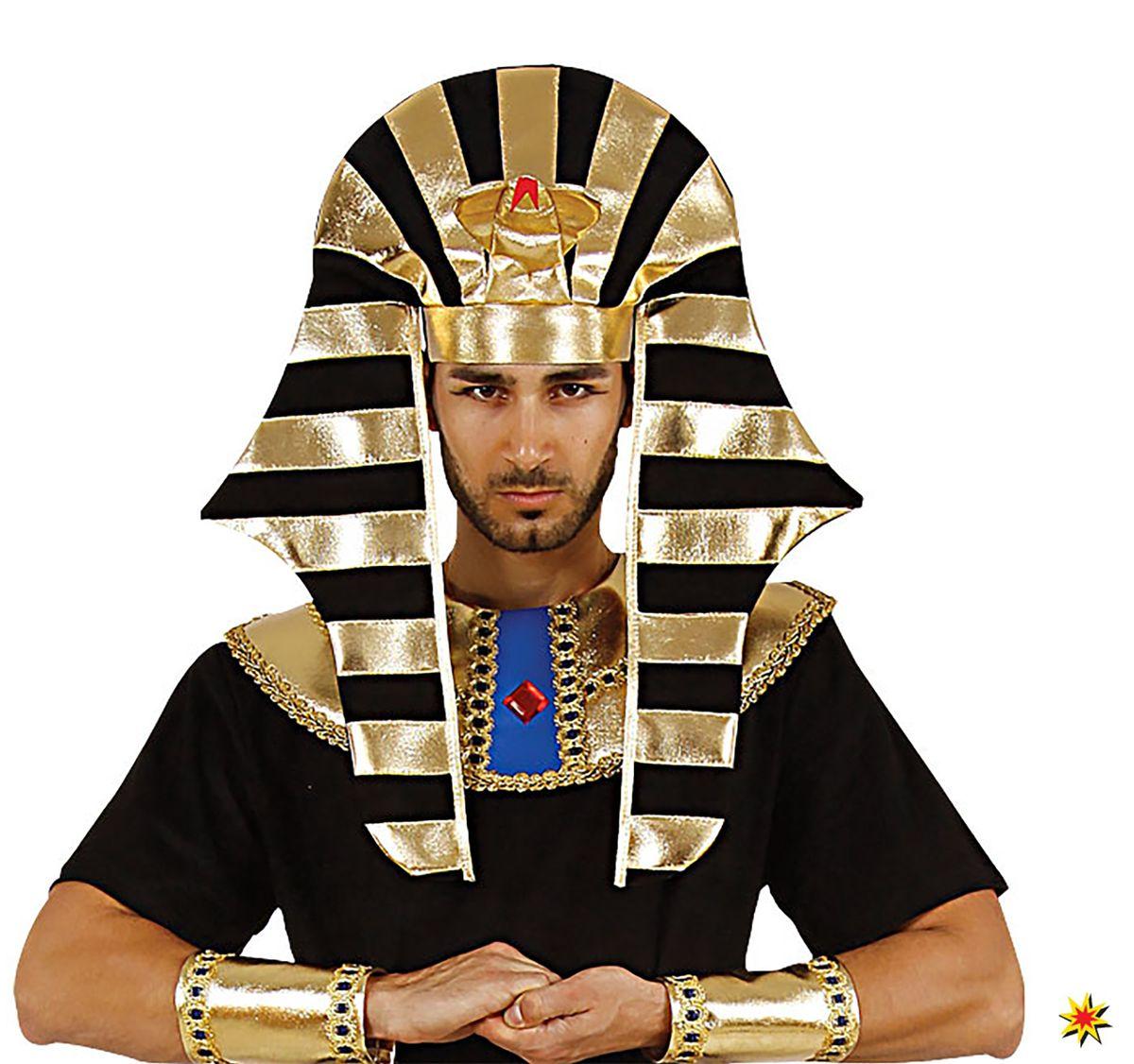 Pharao Kopfbedeckung Hut Ägypter Kostüm Zubehör Fasching Karneval Mottoparty