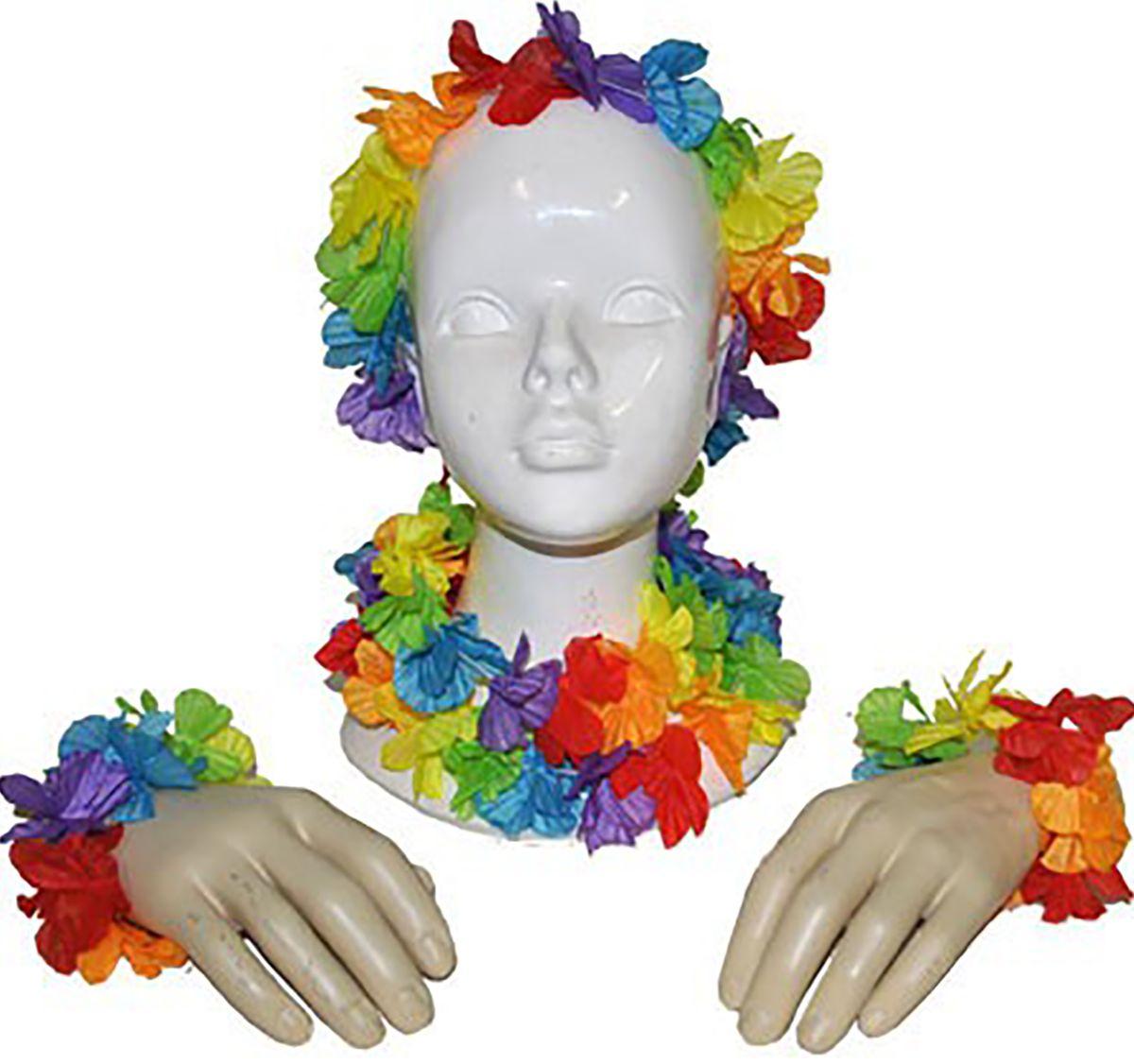 Hawaii Blüten Set Beachparty Sommer Kostüm