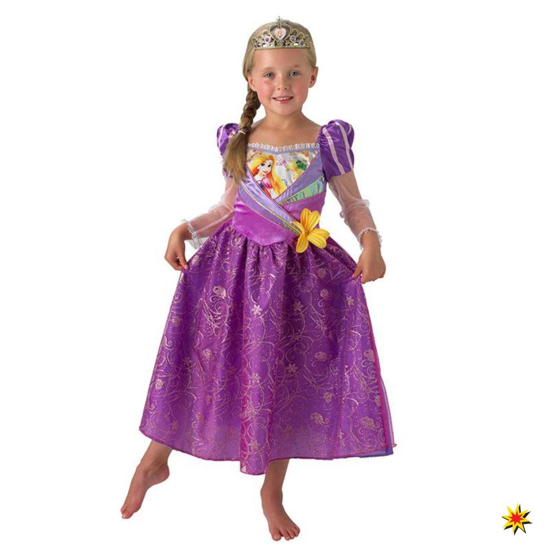 Märchen Kostüm Rapunzel Mädchen Kleid Fasching Karneval Lizenzkostüm Film