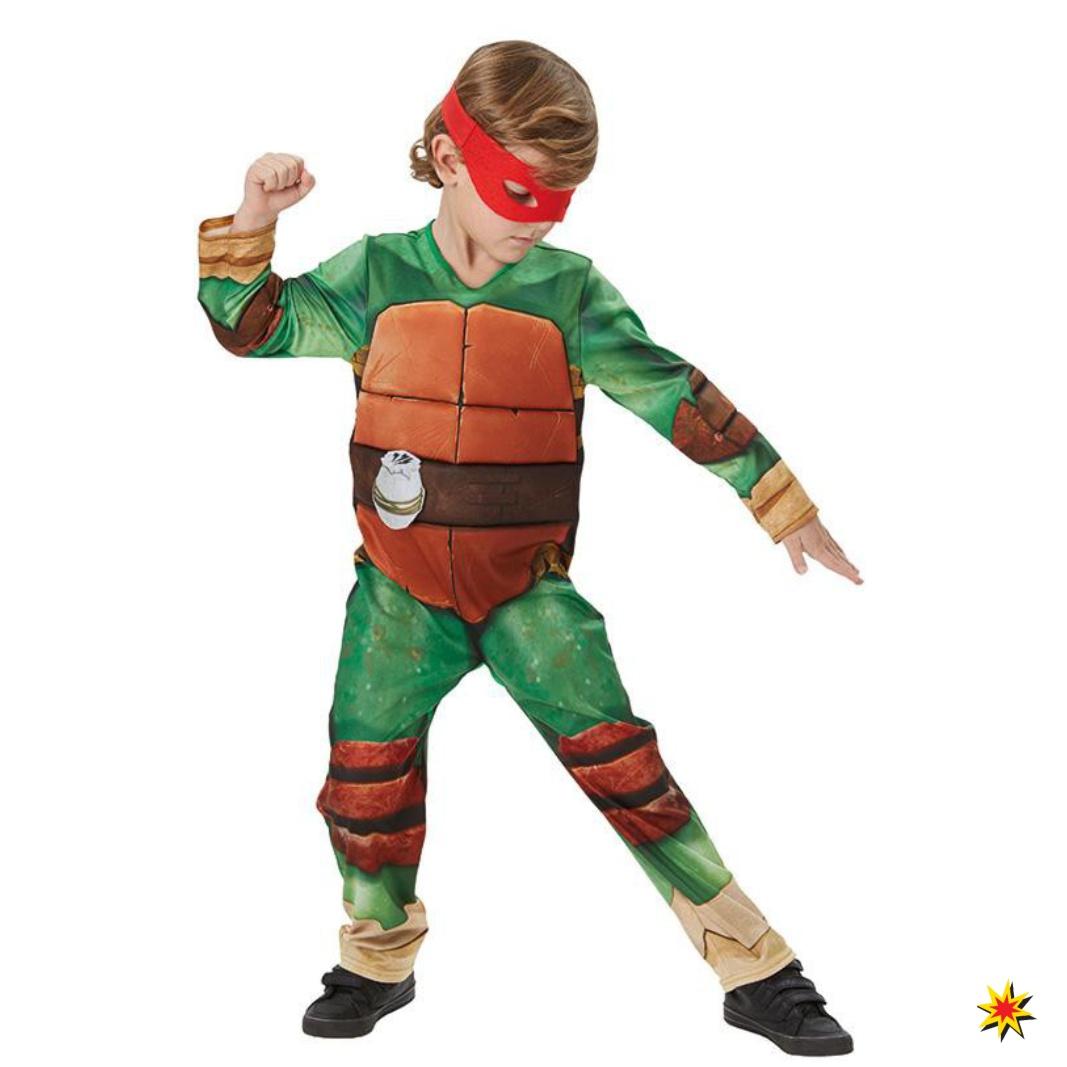 Kinder-Kostüm Turtles Deluxe Fasching Karneval Schildkröte Aktionheld
