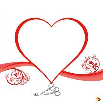 """Herzlaken """"Herz mit Blumen"""" zum Ausschneiden Hochzeitslaken"""