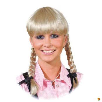 Zopfperücke Lena, Perücke blond