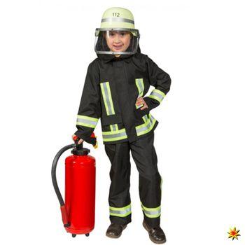 Kostüm Feuerwehr Junge Samy, Uniform schwarz