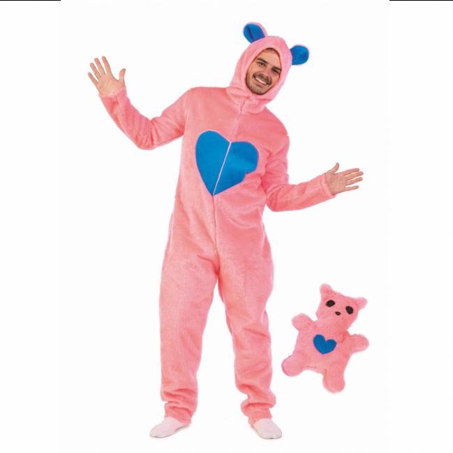 Bär Kostüm für Herren mit Bärchen Gr. L- XL Overall Stofftier Spaßkostüm Tierkostüm SALE Fasching Karneval Mottoparty JGA