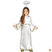 Kinder Kostüm Engel Giel Kleid Weihnachtsengel Krippenspiel