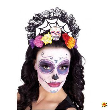Skull Haarreif, Tira Calavera Halloween La Catrina
