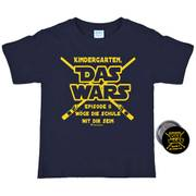 "Shirt mit Button ""Das Wars"", Gr. 110/116 navy"
