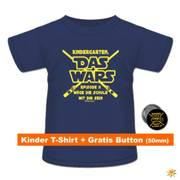 Shirt Das Wars mit Button Navy Blau