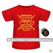 Schulanfang T-Shirt mit Anstecker, rot