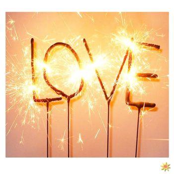 Wunderkerzen Schriftzug LOVE