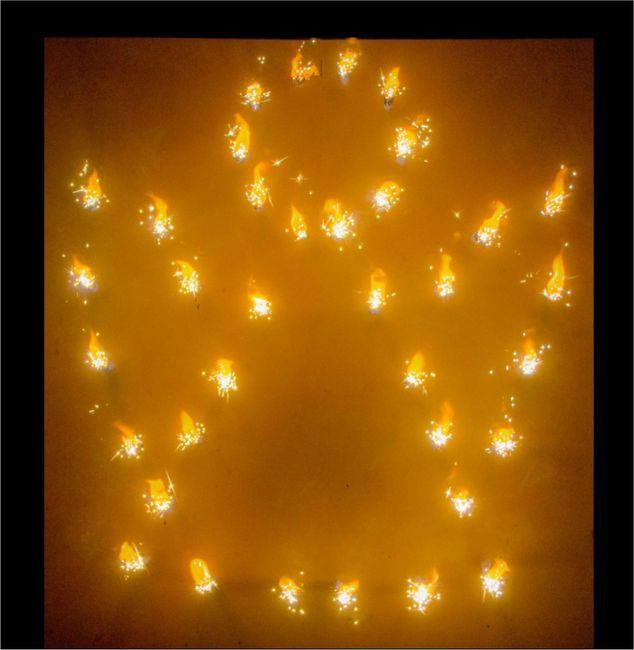 Lichterbild Engel Feuerwerk Feuerbild Lichterbilder
