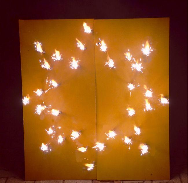 Lichterbild Stern Brenennder Stern Feuerwerk Feuerbild