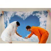 Herzlaken zum Ausschneiden, Motiv Wolke Hochzeitslaken