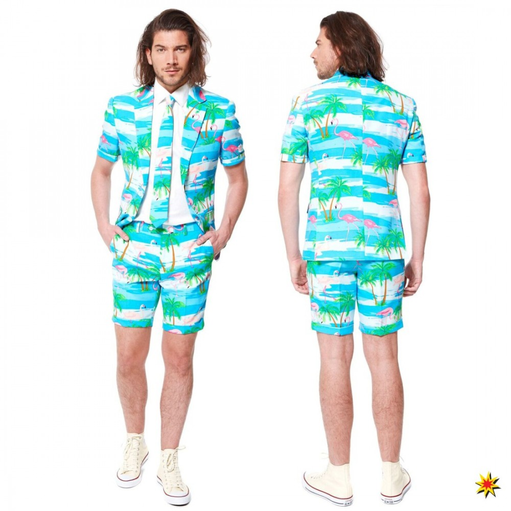 Summer Suit Flamingo Grosse 56