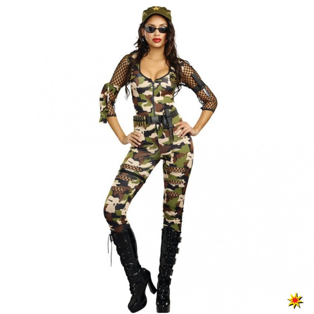 Kostum Army Girl Cathy Camouflage Overall Grosse S