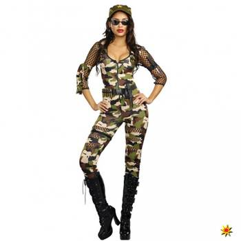 Kostüm Army Girl Cathy, Camouflage Overall