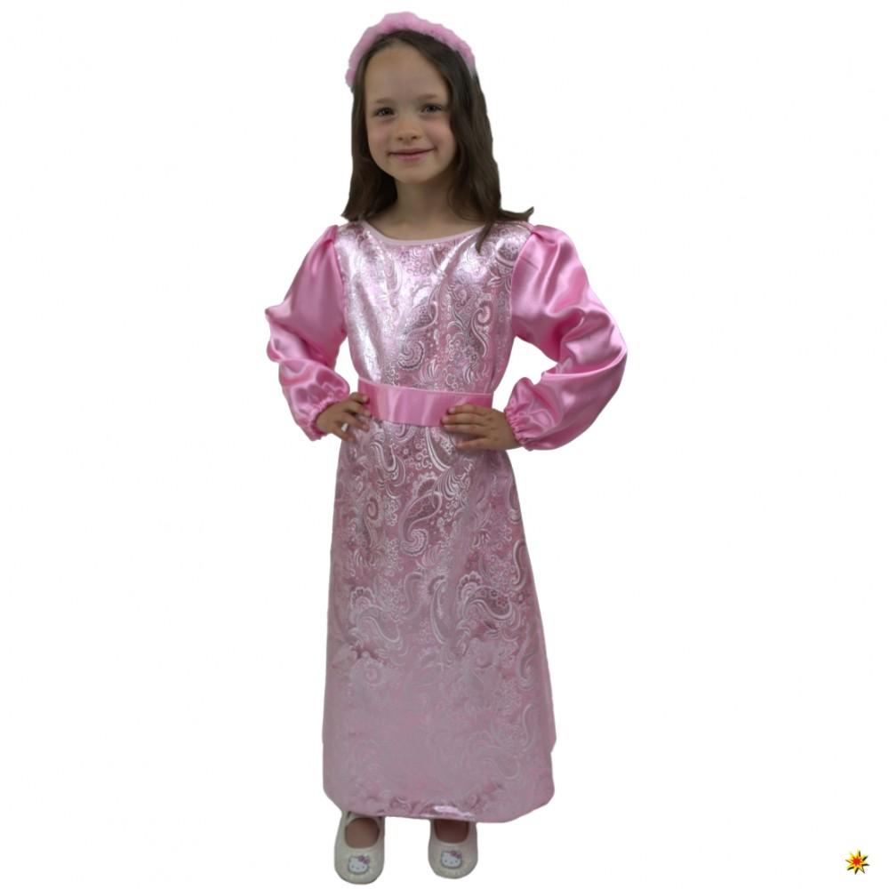 Kinderkostüm Aschenputtel, Prinzessin rosa Größe 140