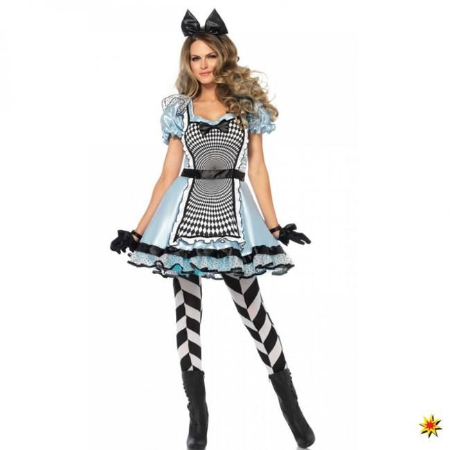 Kostüm Hypnotic Alice  Kleid hellblau Märchen Karneval Wunderland