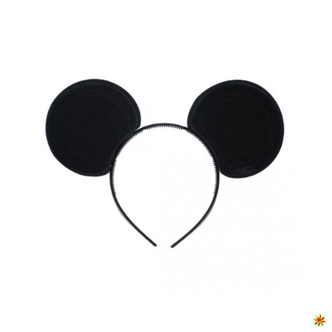 Mäuseohren Micky Maus Haarreif schwarz Fasching Kostüm-Zubehör