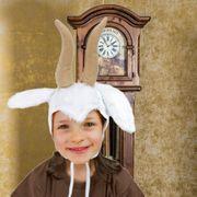 Kinder Mütze Ziege weiß Tiermärchen Ziegenbock Geißlein Fasching
