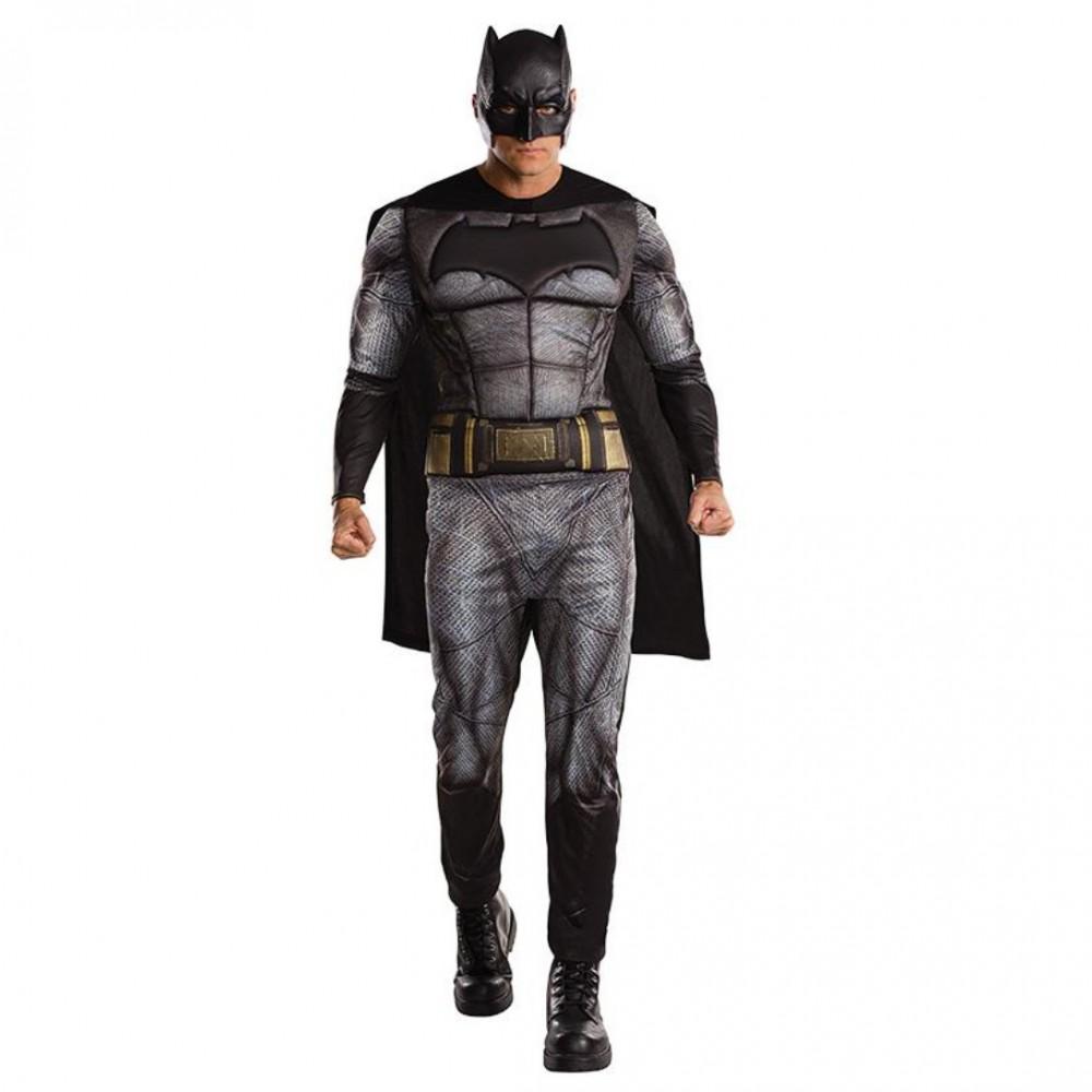 Kostüm Batman STD, XL Superhelden Dawn of Justice Overall Umhang Maske