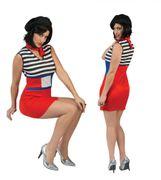 Französin Kostüm für Damen Gr. S-L Kleid rot blau SALE Fasching Karneval Fasching Mottoparty