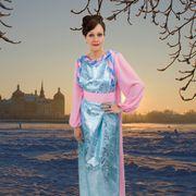 Kostüm Aschenputtel Ballkleid rosa-blau Märchen Moritzburg Prinzessin
