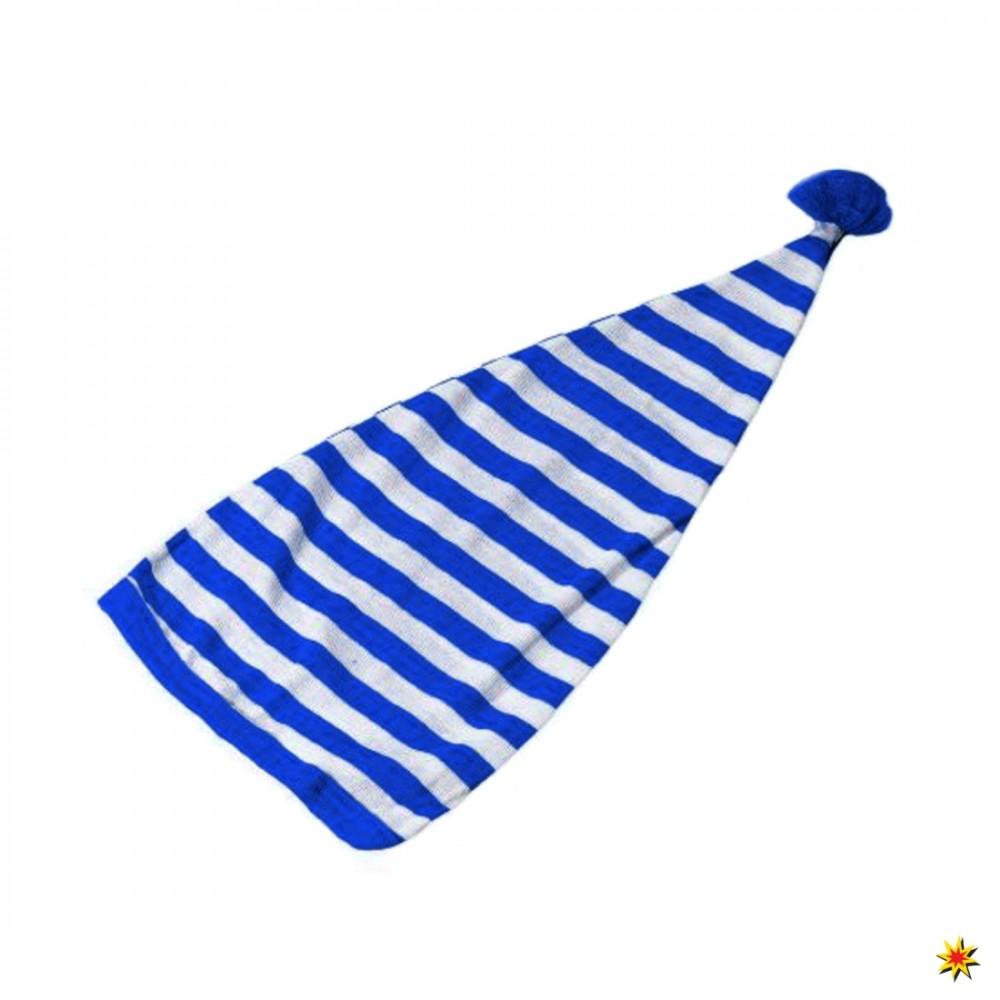 Zipfelmütze blau-weiß gestreift Fasching Karneval Badekostüm