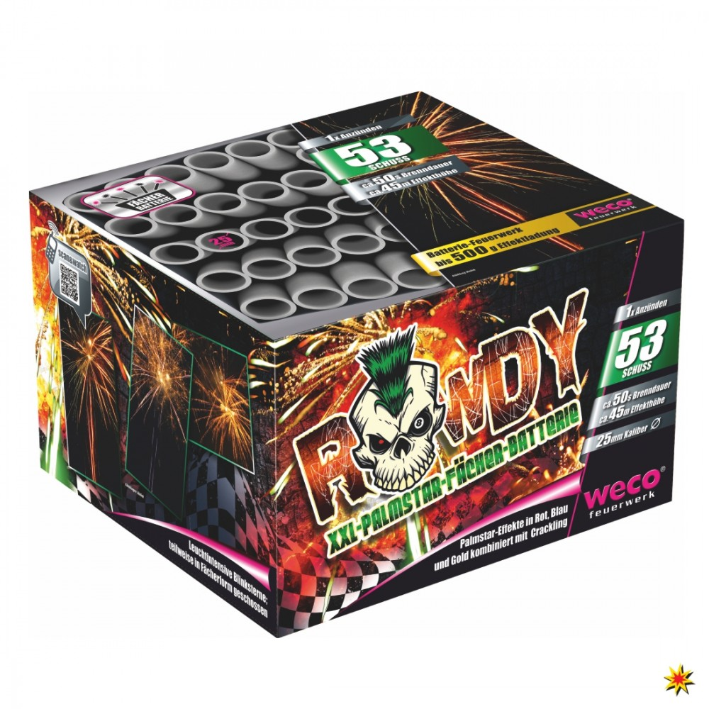 Weco Rowdy Feuerwerk Onlineshop Geburtstagsfeuerwerk Hochzeitsfeuerwerk