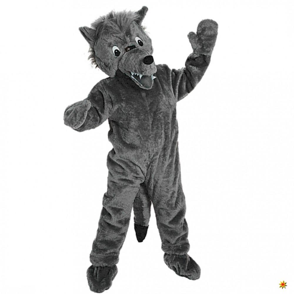 Promotion-Kostüm Big Wolf grau Laufkostüm Maskottchen XXL-Kostüm