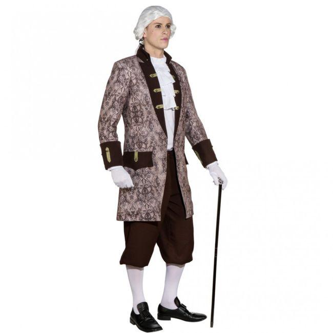 Barock Kostüm Baron Jacke für Herren Gr. 46- 60 Kostüm grau/braun Fasching Karneval Mottoparty Maskenball SALE