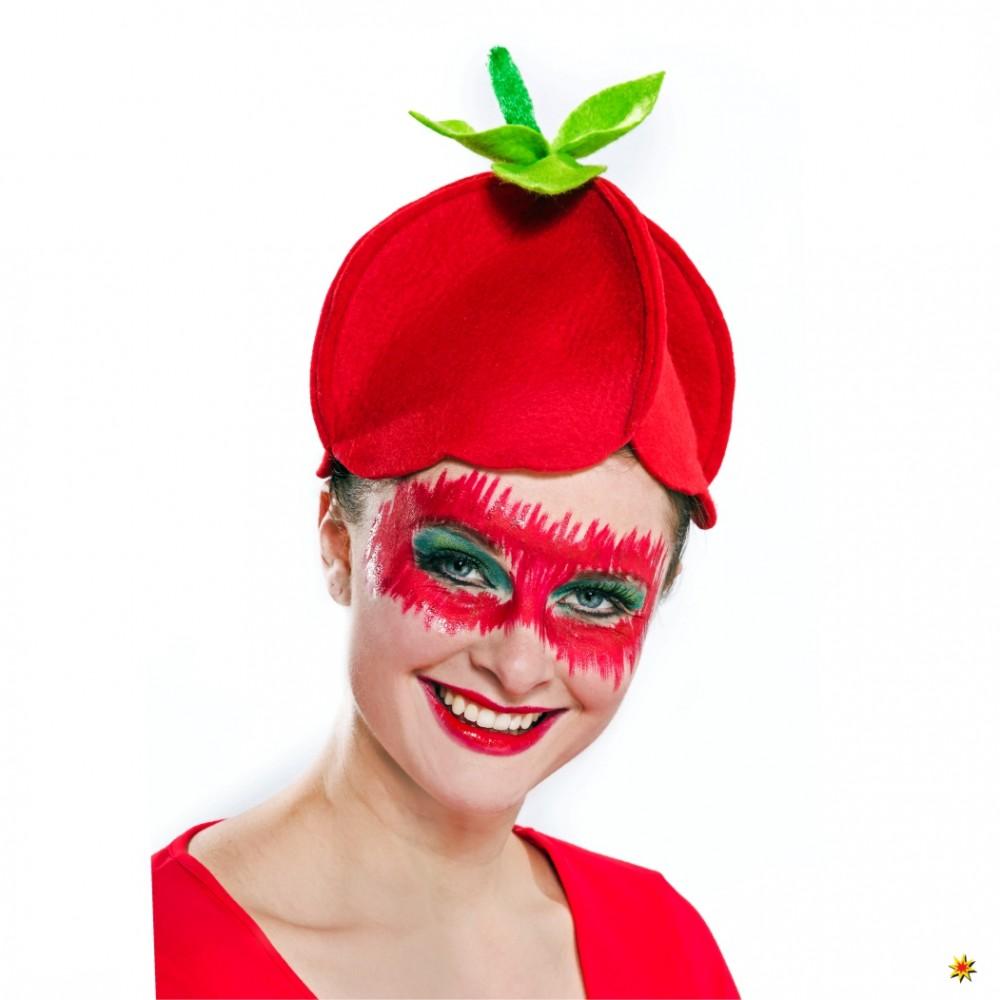Erdbeermütze, rot/grün