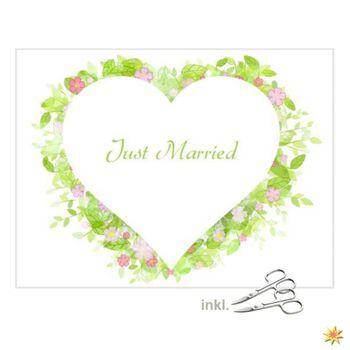 """Herzlaken """"Blumenwiese"""" zum Ausschneiden Hochzeitslaken"""