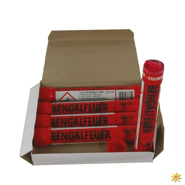 Bengalfeuer Rot Blinkend, Bengalo 5er Pack