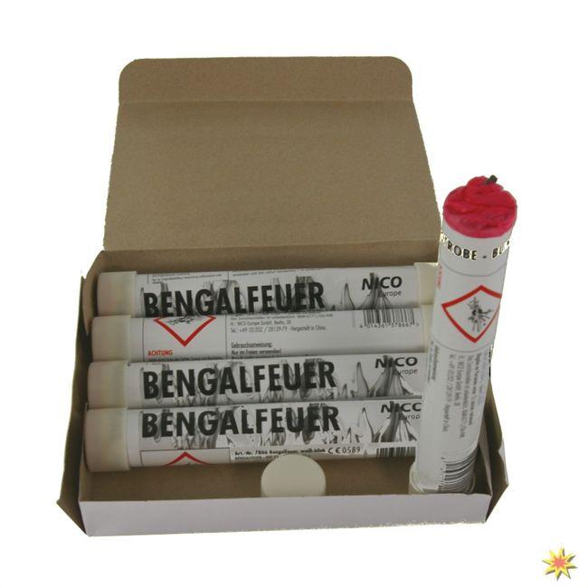 Bengalfeuer Weiß Blinkend, Bengalo 5er Pack